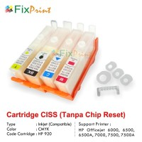 Cartridge CISS HP Officejet 7000 6500 6000 HP920 Tanpa Chip