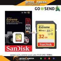 Sandisk SDHC Extreme 32GB Class 10 U3 UHS-1 90MB/s