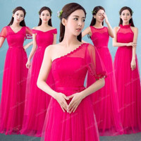 Gaun Bridesmaid [Paket 3pcs] - Baju Dress Pesta Cantik Silver Murah