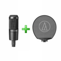 Audio Technica AT2035 with AT-PF2 Pop Filter