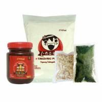 Murah Paket Bahan Takoyaki komplit, tepung+saos+aonori+katsuobushi