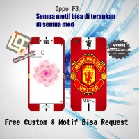Garskin HP Oppo F3 motif MU Red - motif bisa request