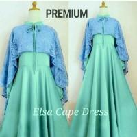 Baju Busana Muslim Wanita / Gamis Abaya CDX ELSA CAPE Premium Tosca