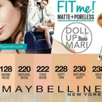 MAYBELLINE FOUNDATION FIT ME! PORELESS MATE # 120 CLASSIC IVORY