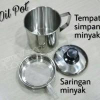 Oil Pot Saringan & Tempat simpan minyak 12cm