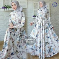 model baju muslim gamis terbaru dan modern Maxmara Hanna