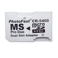 Winfos MS Pro Duo Dual Slot Adapter Adapter memory PSP - White