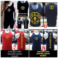 Singlet Gold Gym Kaos baju fitness under armor Underarmour training