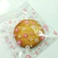 Kemasan Kue Cantik Plastik Packing Roti Cookies Bag Bunga Flower Flora