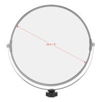 Makeup Mirror 8 Inch-20cm Glass Double-Sided For Ring Light LED Selfie