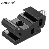 Andoer Metal Flash Speedlite Hot Shoe Mount Adapter Adjustable