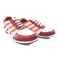 Sepatu Running Casual Sport TREKKERS Wanita M-Sintia Putih/Merah Bata