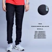 Jual Hotlist terbaru  celana bahan hitam slimfit  bestseller terlengkap Murah