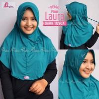 Jual Bergo Plain Laura - Hijab Kerudung Bestseller Tali serut ngaji mall Murah