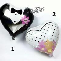 Harga balon foil hati wedding balon bride and groom balon baju | antitipu.com