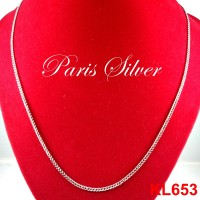 Jual Kalung Panjang Rantai Silver Perak 925 Pria Sisik Naga Emas putih Murah