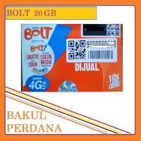 KARTU PERDANA INTERNET BOLT SUPER 4G LTE 20 GB 24 JAM / 32 GB BAKUL