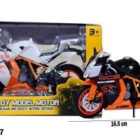 MSM Mainan Anak Diecast Motor Besi Alloy Model HX807
