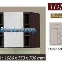 Kitchen set atas sudut KSA 501 Topix Series