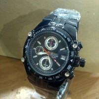 Jam Tangan Seiko Chronograph Full Black Super