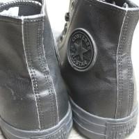 TERLARIS Sepatu Converse Kulit Full Black High (MURA)