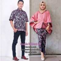 Batik Couple Modis Kebaya Sarimbit Batwing Rabbani Original Pekalonga