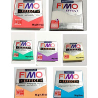 Jual fimo effect translucent polymer clay modelling clay bahan clay adonan Murah