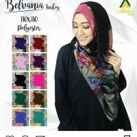 grosir jilbab/jilbab murah/jilbab  segi empat  motif bunga