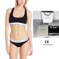 Calvin Klein Modern Bralette [Sport bra] 1set +cd/boxer hitam