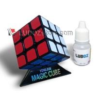 Rubik 3x3 BLACK base Anti Pop Out + PELUMAS cocok utk Speed