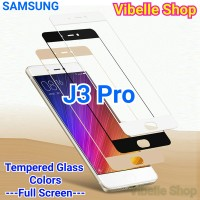 Tempered Glass Warna SAMSUNG J3 Pro FULL SCREEN COVER J3pro J 3 Pro