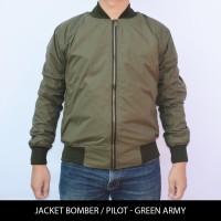 Jual Jaket Motor Harian Pilot / Bomber Hijau Army tahan angin & air Murah