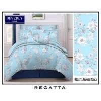 Bedcover Set Katun Jaxine Regatta Blue 120x200x20