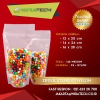 Plastik Zipper Stand Up Nylon 14x24 cm