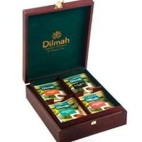 Dilmah Luxury Wooden Box Tea Set 4 Slots Teh Kotak Kayu