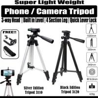 FREE Holder U Alumunium Tripod 1M for DSLR/Kamera/Handphone/dll