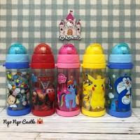 Jual Botol Minum Sedotan (Tsum Tsum, Hello Kitty, Doraemon, Frozen) Murah