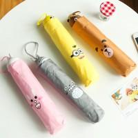 Jual Promo Payung Karakter unik Payung Lipat FIGURINE Totoro Kepala - Murah