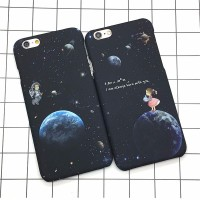 Oppo F1s F1 plus F1+  F3 R9+ Soft Case Couple Astronaut Star HP