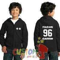 Jaket Hoodie Sweater Martin Garrix Logo #2 Untuk Anak Usia 6-9 Tahun