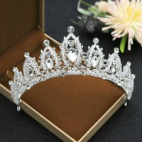 Mahkota rambut tiara wedding crown rambut pesta pengantin CC090 thumbnail