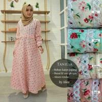 Long Dress Maxi Wanita Muslim motif katun jepang tanisya busui XL