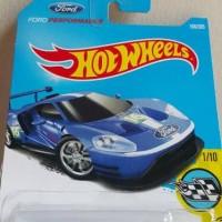 B0075-HOT WHEELS / HOTWHEELS-2016 FORD GT RACE-BIRU