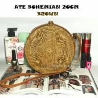 Jual Bohemian Bag 20cm brown/tas selempang/ate/rotan/etnik/unik/bali Murah