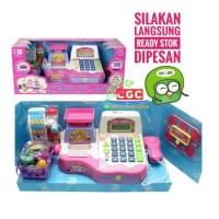 [PREMIUM] Mainan Checkout Kasir Edukasi Anak Mic Suara Scan Barcode