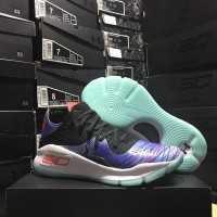 Sepatu Basket Under Armour Curry 4 Low China Blue (Glow In The Dark)