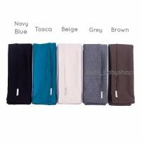 Kainaya Colour Double Knit Gendongan Kaos Geos Grey Gendongan Kain G