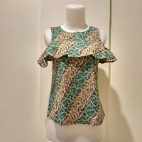 Baju Atasan Wanita/ Blouse Batik Modern Model Sabrina Murah