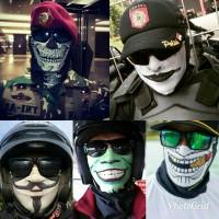 Jual Masker topeng vendeta, joker, anonimous , skull , slipknot, buff skull Murah