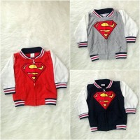 Jaket superman baseball baju bayi anak